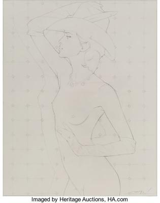 Untitled (Nude with Hat and Gloves)